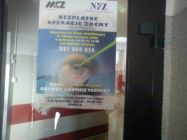 Operacja usunięcia zaćmy bez kolejki w MCZ w Lubinie