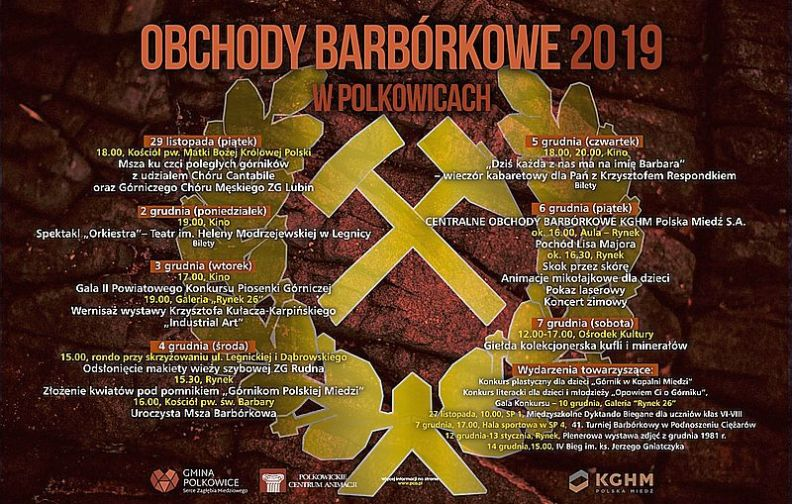 Centralne Obchody Barbórkowe po raz pierwszy w Polkowicach - program