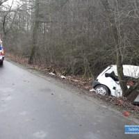 Wypadek na terenie gminy Rudna. 19 – letnia kierująca trafiła do szpitala.