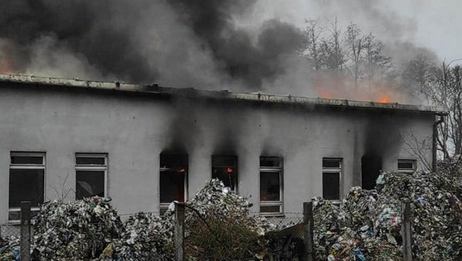 Kolejny pożar na terenie składowiska odpadów w Kłopotowie