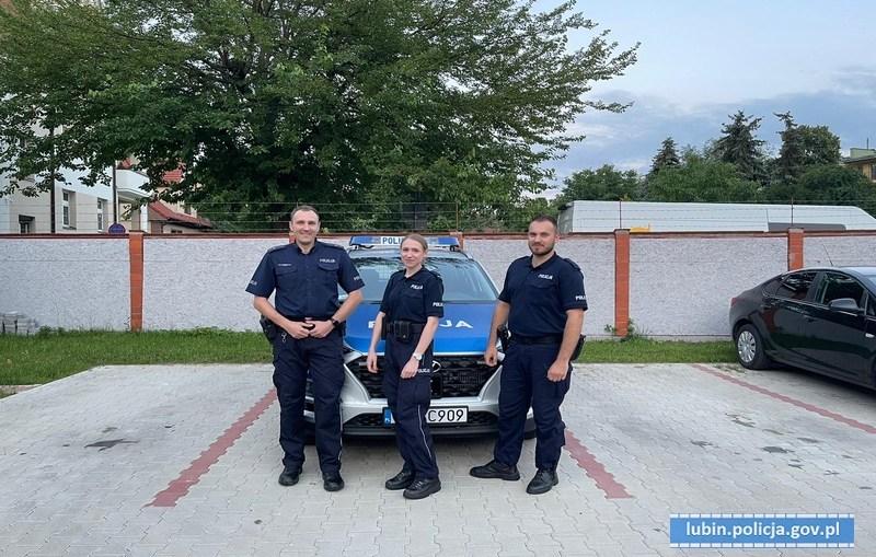 Lubińscy policjanci uratowali mężczyznę przed desperackim krokiem