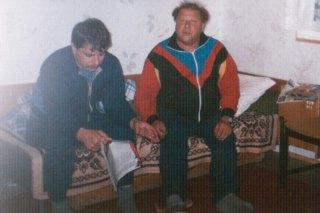 W domku kempingowym w Brennej siedzą Grzegorz Brzoza i jego ojciec Andrzej