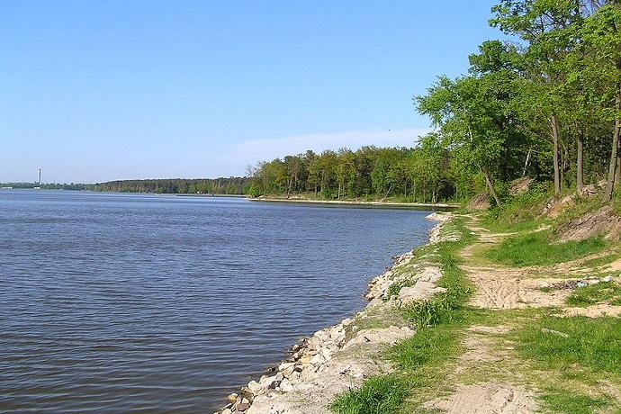 Zalew Zemborzycki plaża