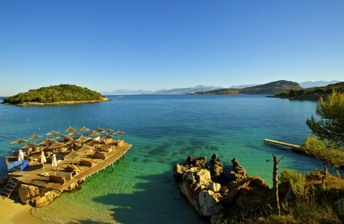 Najpiękniejsze zakątki Albanii - Ksamil