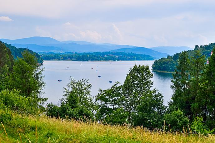 Górskie jeziora - Jezioro Żywieckie