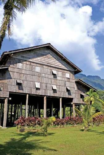 Traditional Borneo Native House