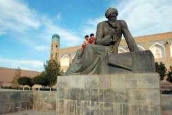 Chiwa. Pomnik arabskiego matematyka, geografa i astronoma Al Chorezmiego