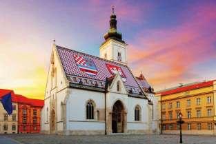 Barwna dachówka na kościele św. Marka w dzielnicy Gradec nie pozostawia wątpliwości, w jakim kraju jesteśmy.