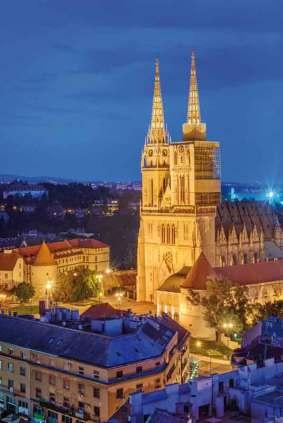 Neogotycka katedra Wniebowzięcia Najświętszej Maryi Panny w Zagrzebiu znana jest też jako katedra św. Stefana i Ladislawa. To największa świątynia Chorwacji.