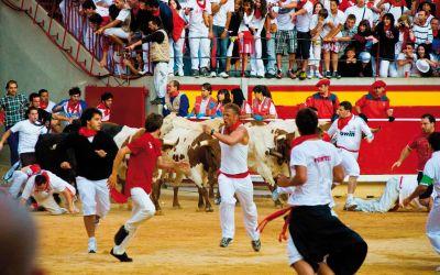 Hiszpania – bieg z bykami w Pampelunie