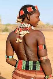 Rytualne blizny kobiety z plemienia Hamer