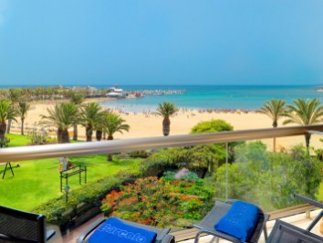 Sea views from superior room terrace at Barcelo Fuerteventura Thalasso and Spa
