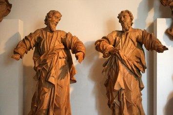Barokowi święci - rzeźby z późniejszego wyposażenia kościoła, fot. Paweł Wroński