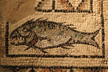 Najsłynniejszy motyw mozaiki z posadzki poreckiego baptysterium, fot. Paweł Wroński