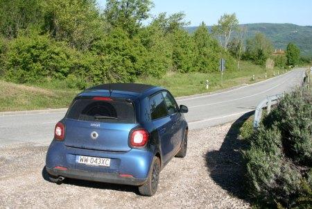 Smart ForFour w drodze do Motovun, fot. Paweł Wroński