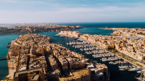 Aerial of Three Cities, Malta_Easy-Resize.com