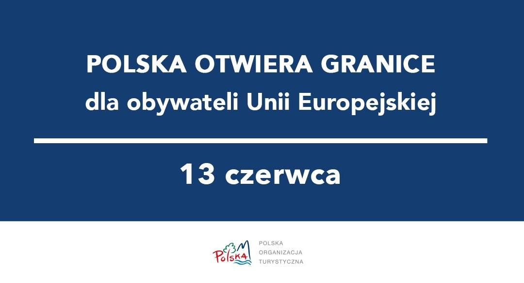 Ważne‼ Od soboty 13 czerwca będzie można swobodnie przekraczać granice wewnętrzne Unii Europejskiej.