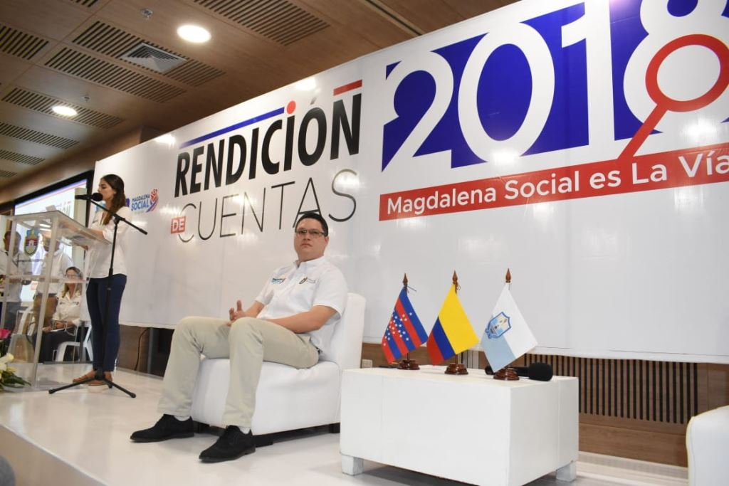 Gobernadora del Magdalena rindió informe detallado de su gestión del 2018