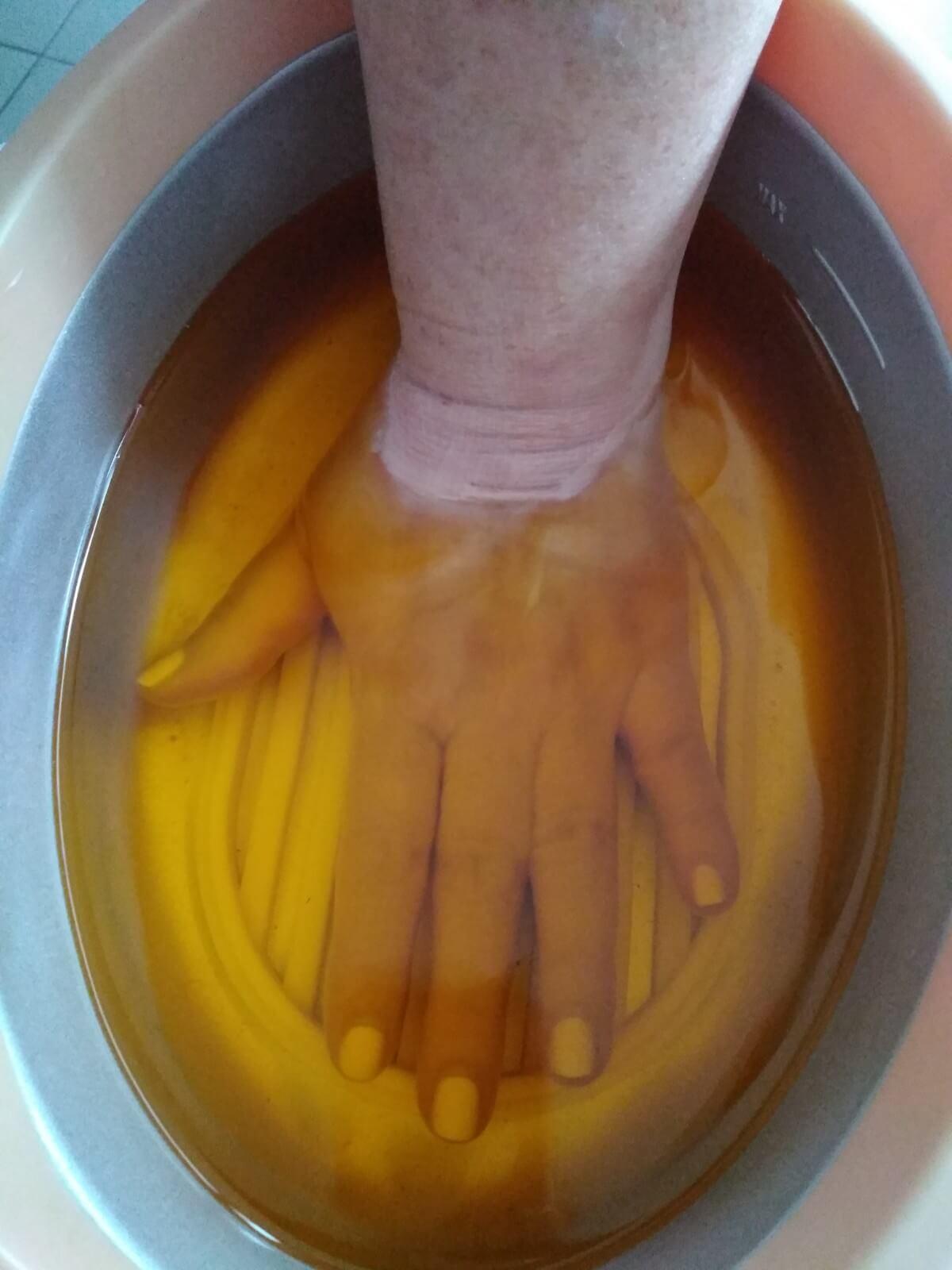 parafina dłoń