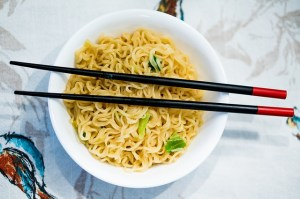Instant Noodles contain a high amount of sodium which can lead to weight gain!