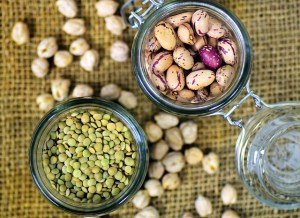 Plant based proteins you find in legumes like beans, lentils, and chickpeas