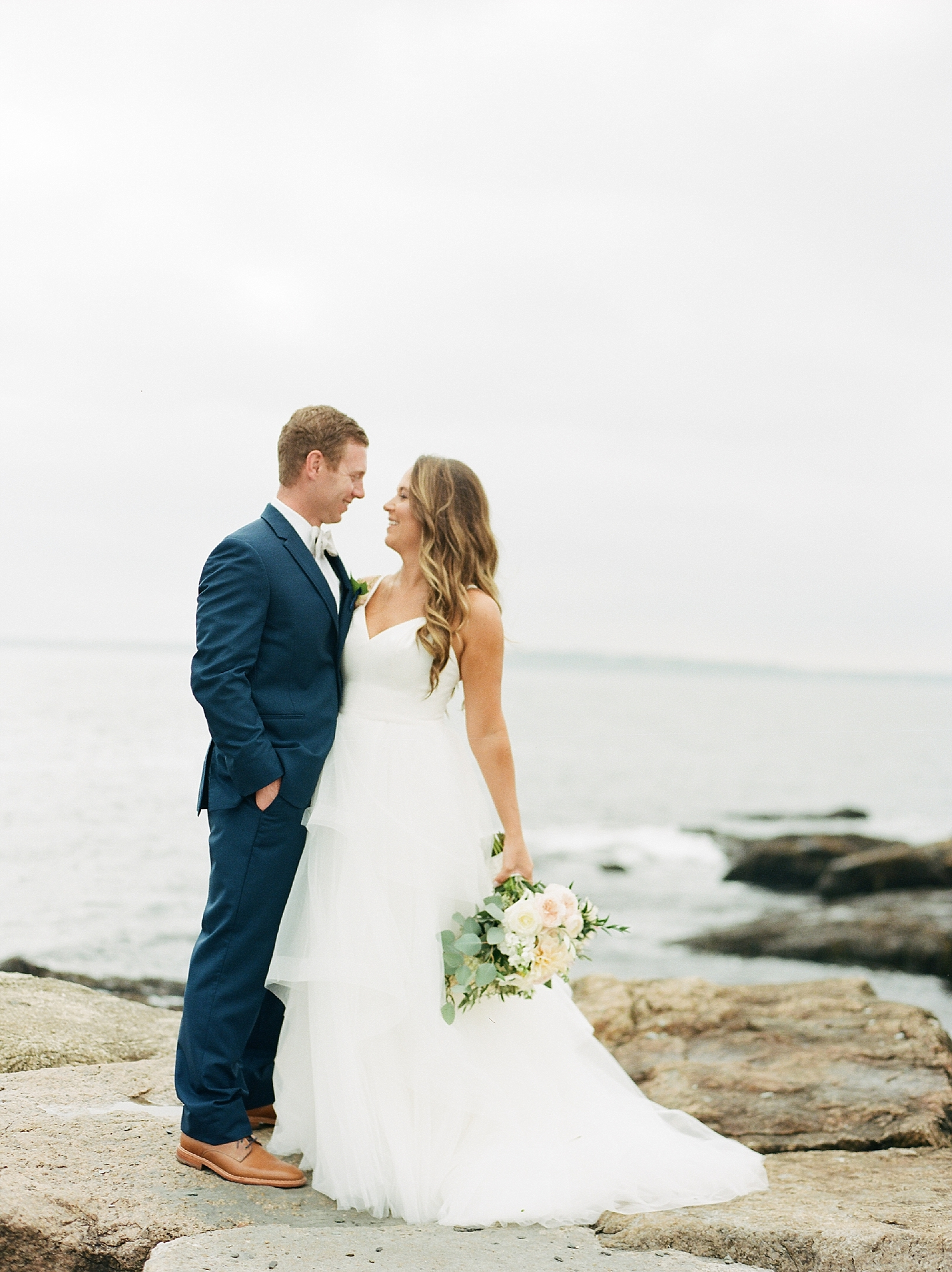 Coastal and Authentic Film Wedding Photography in Newport Rhode Island by Magdalena Studios 0027