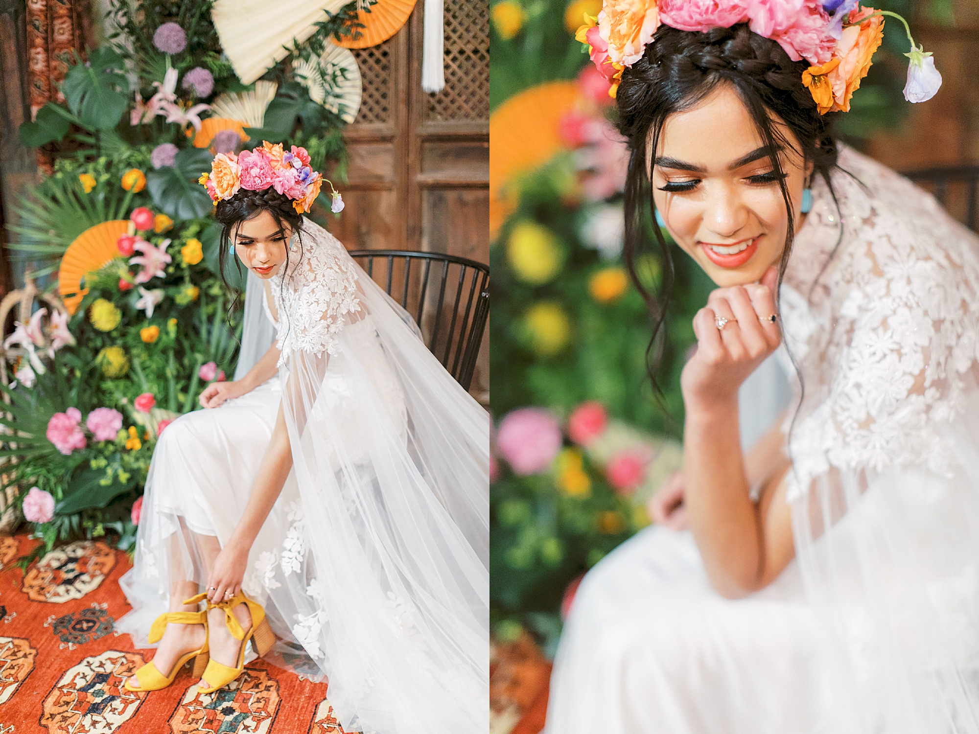Vibrant and Colorful Frida Kahlo Inspired Wedding Photography by Magdalena Studios 0009