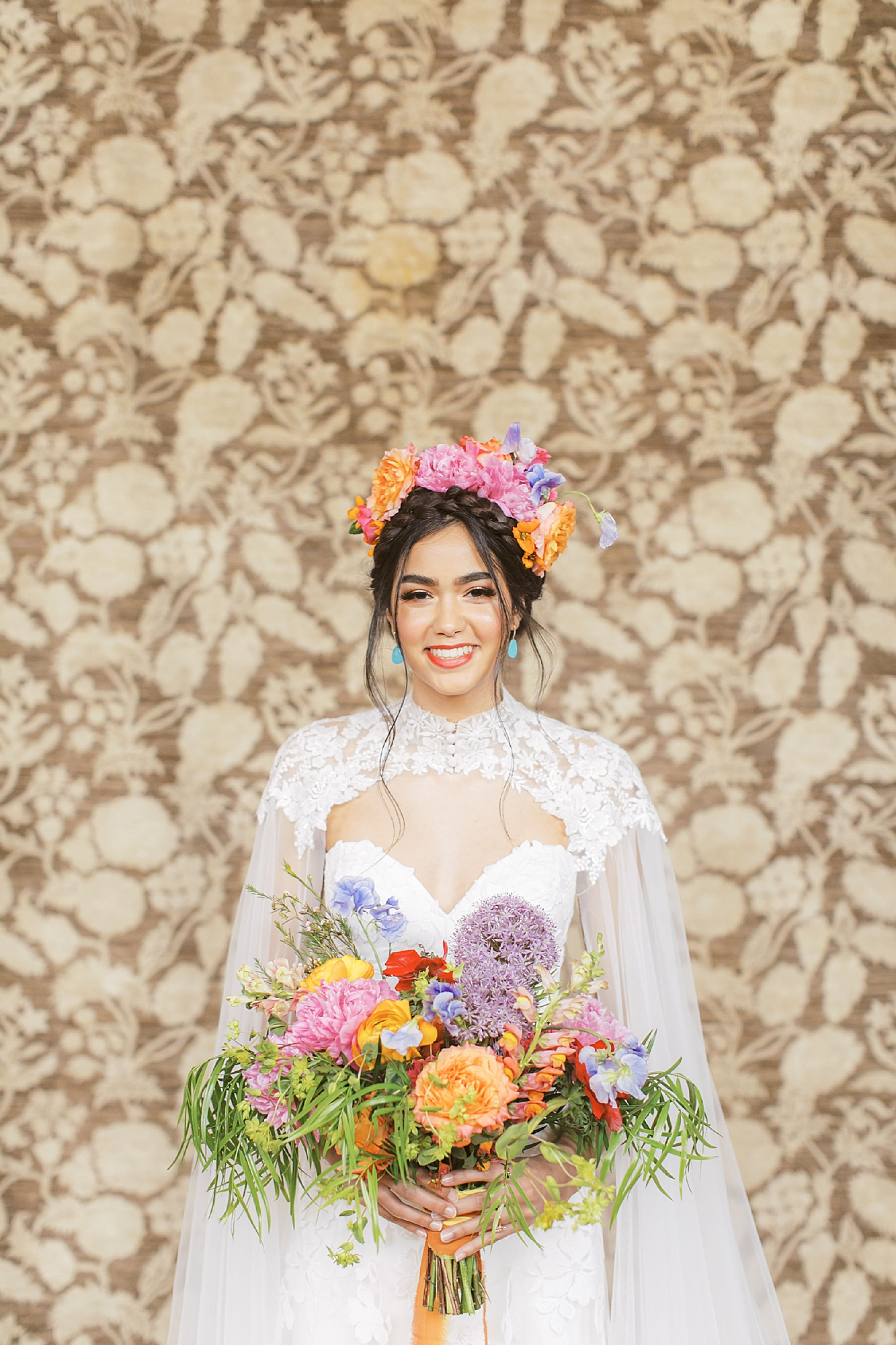 Vibrant and Colorful Frida Kahlo Inspired Wedding Photography by Magdalena Studios 0010