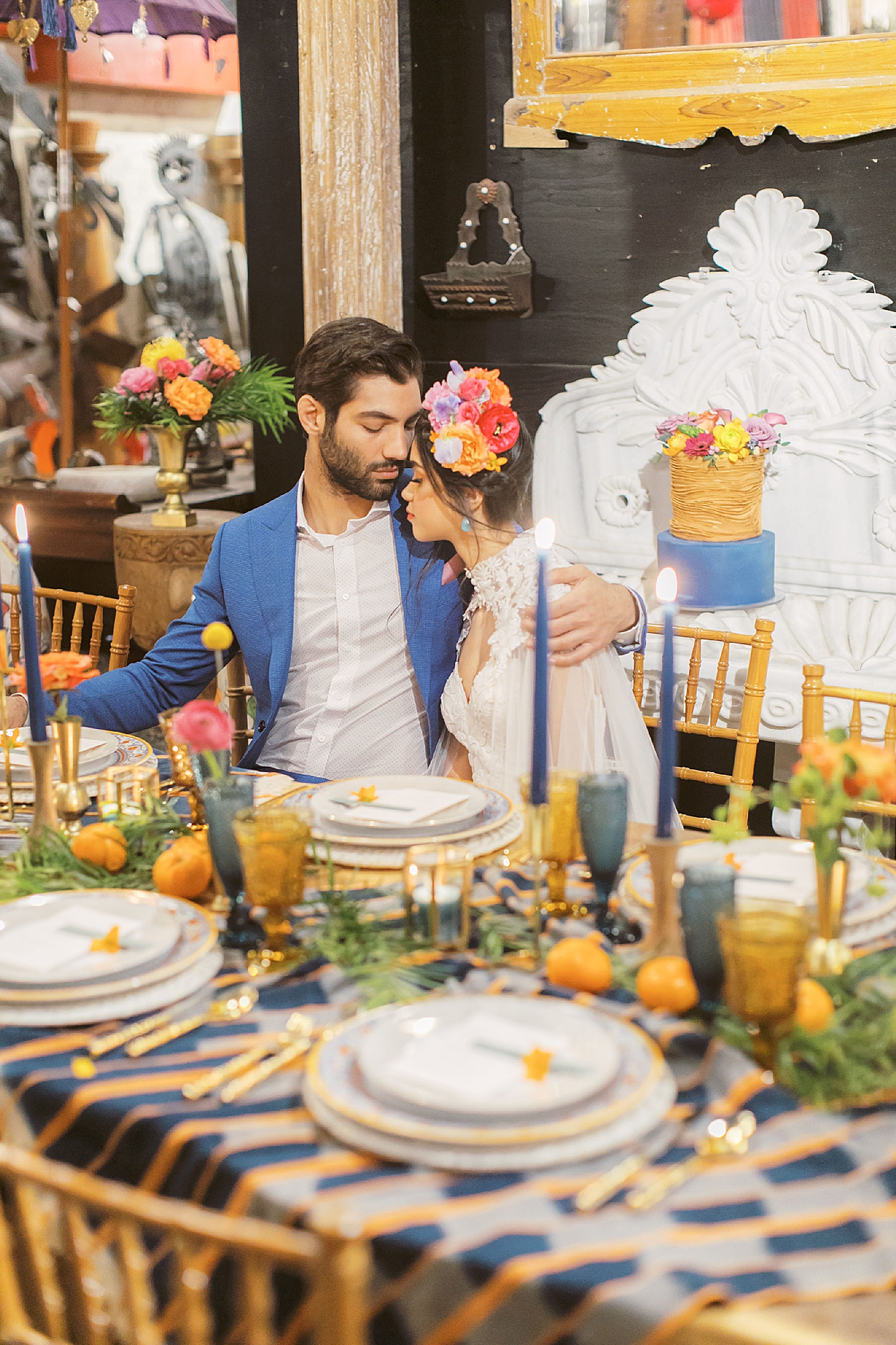 Vibrant and Colorful Frida Kahlo Inspired Wedding Photography by Magdalena Studios 0025
