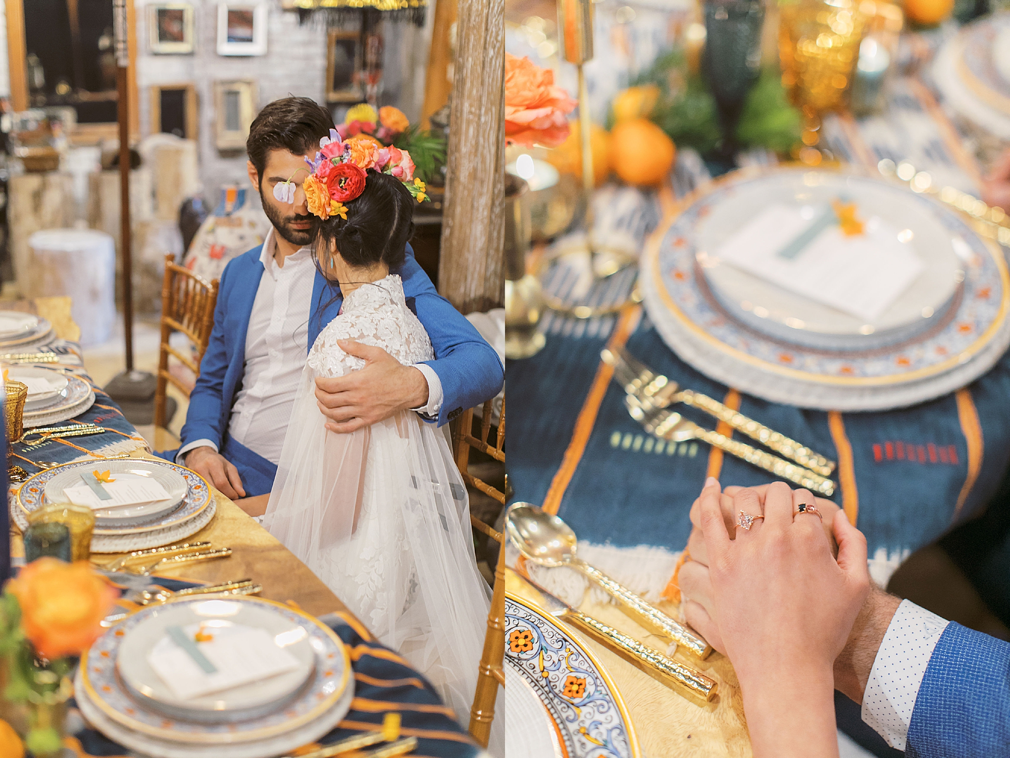 Vibrant and Colorful Frida Kahlo Inspired Wedding Photography by Magdalena Studios 0026