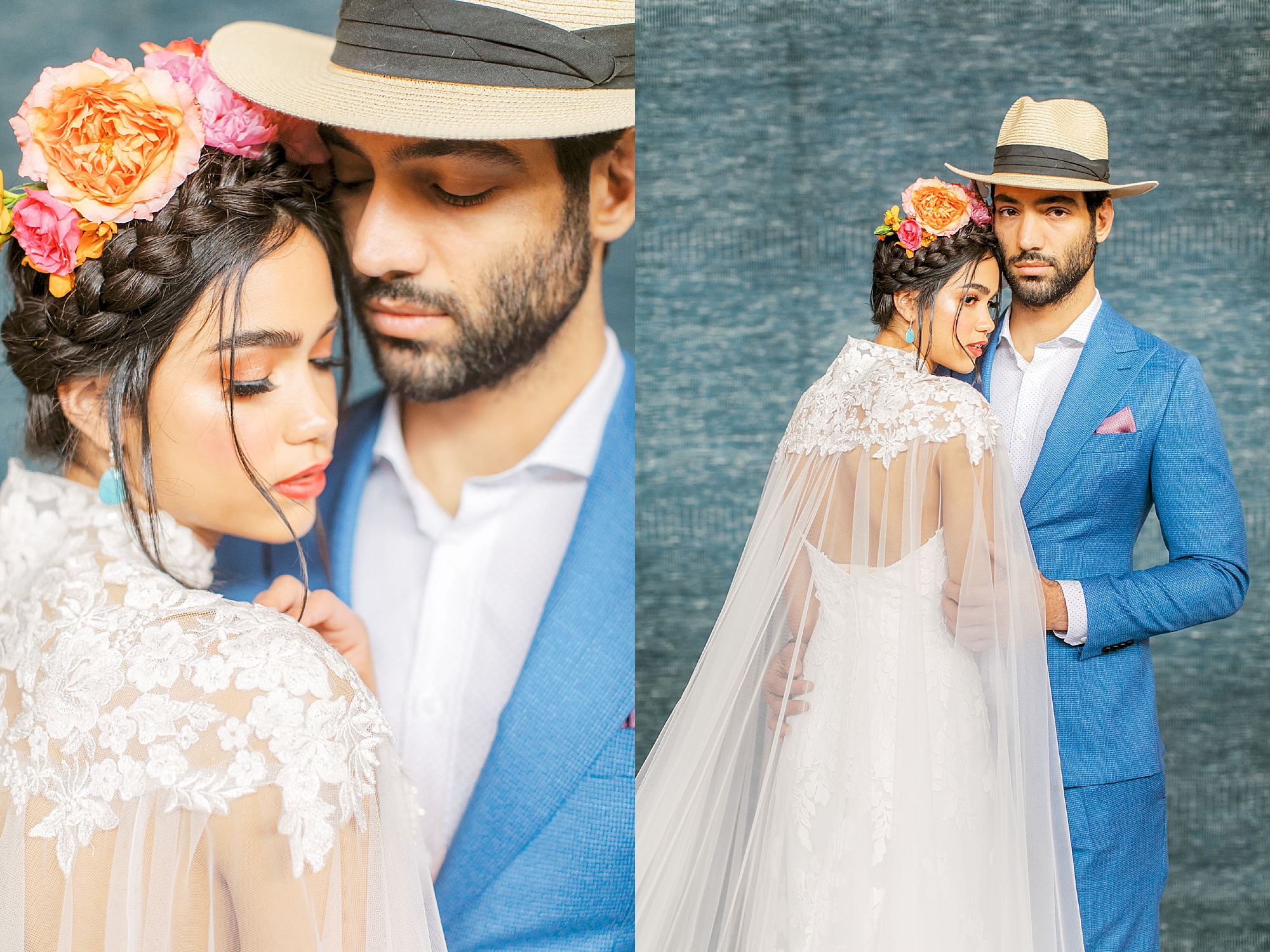 Vibrant and Colorful Frida Kahlo Inspired Wedding Photography by Magdalena Studios 0047