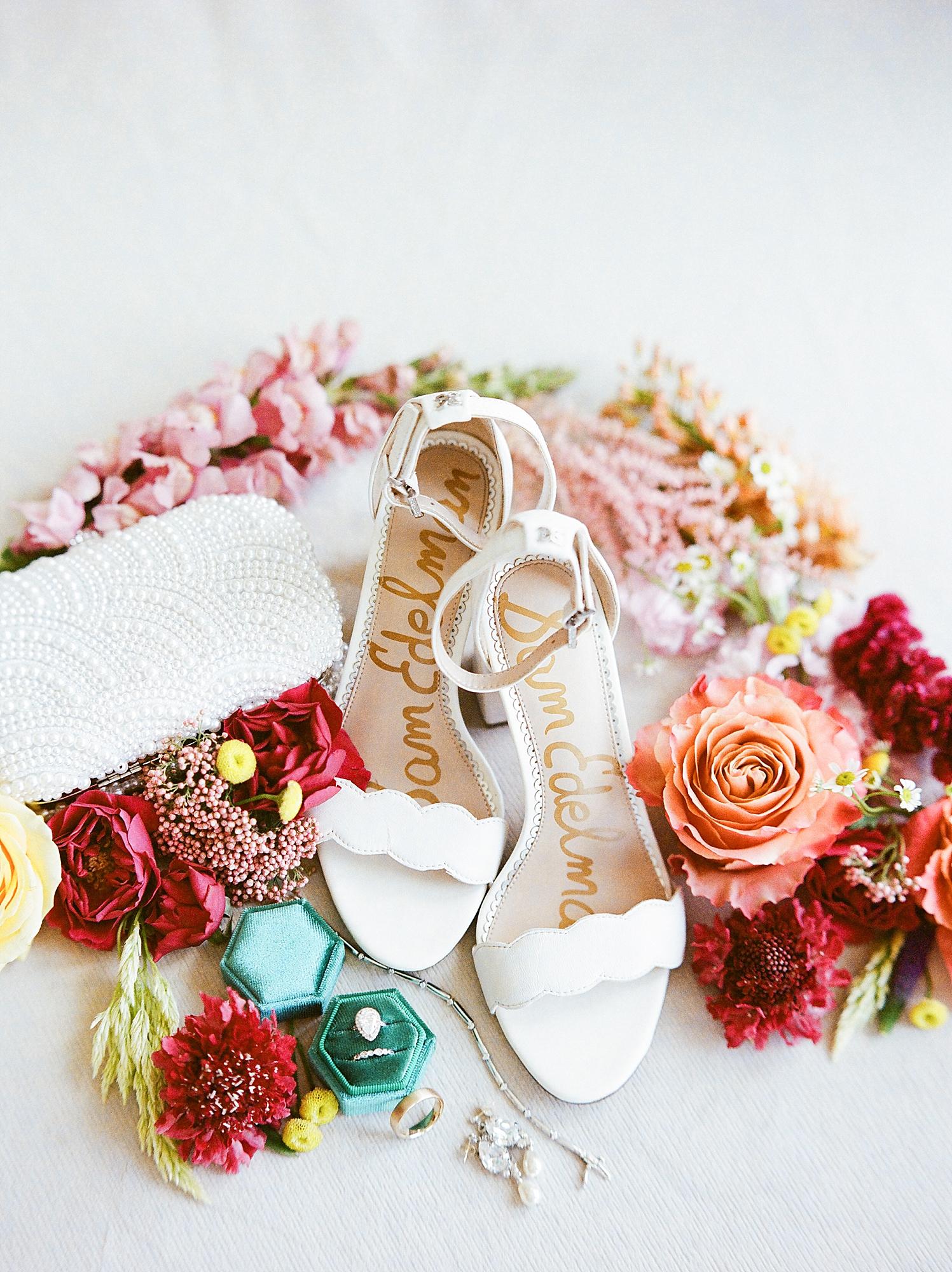 Colorful wedding day details at Bonnet island estate