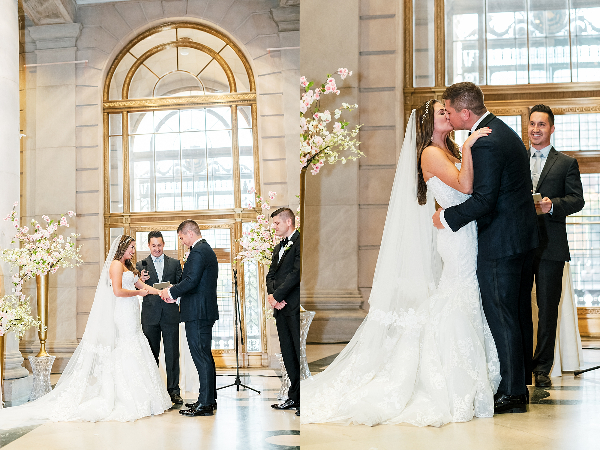Free Library of Philadelphia Wedding Photography by Magdalena Studios 0017