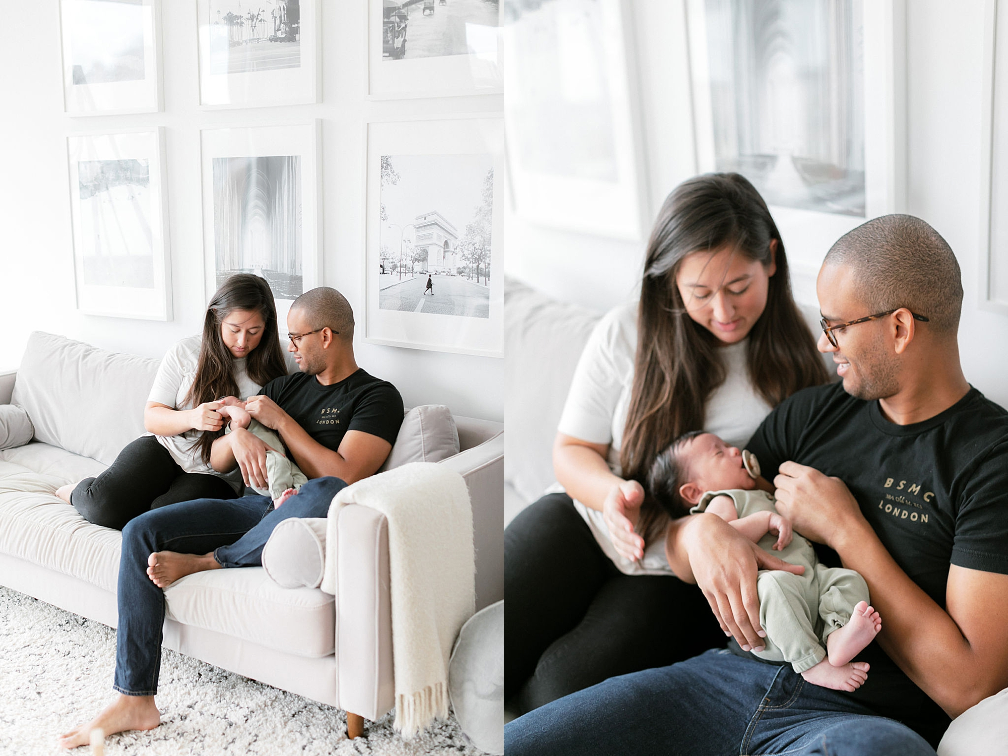 Lifestyle Home Newborn Session Family Portraits NYC by Magdalena Studios5