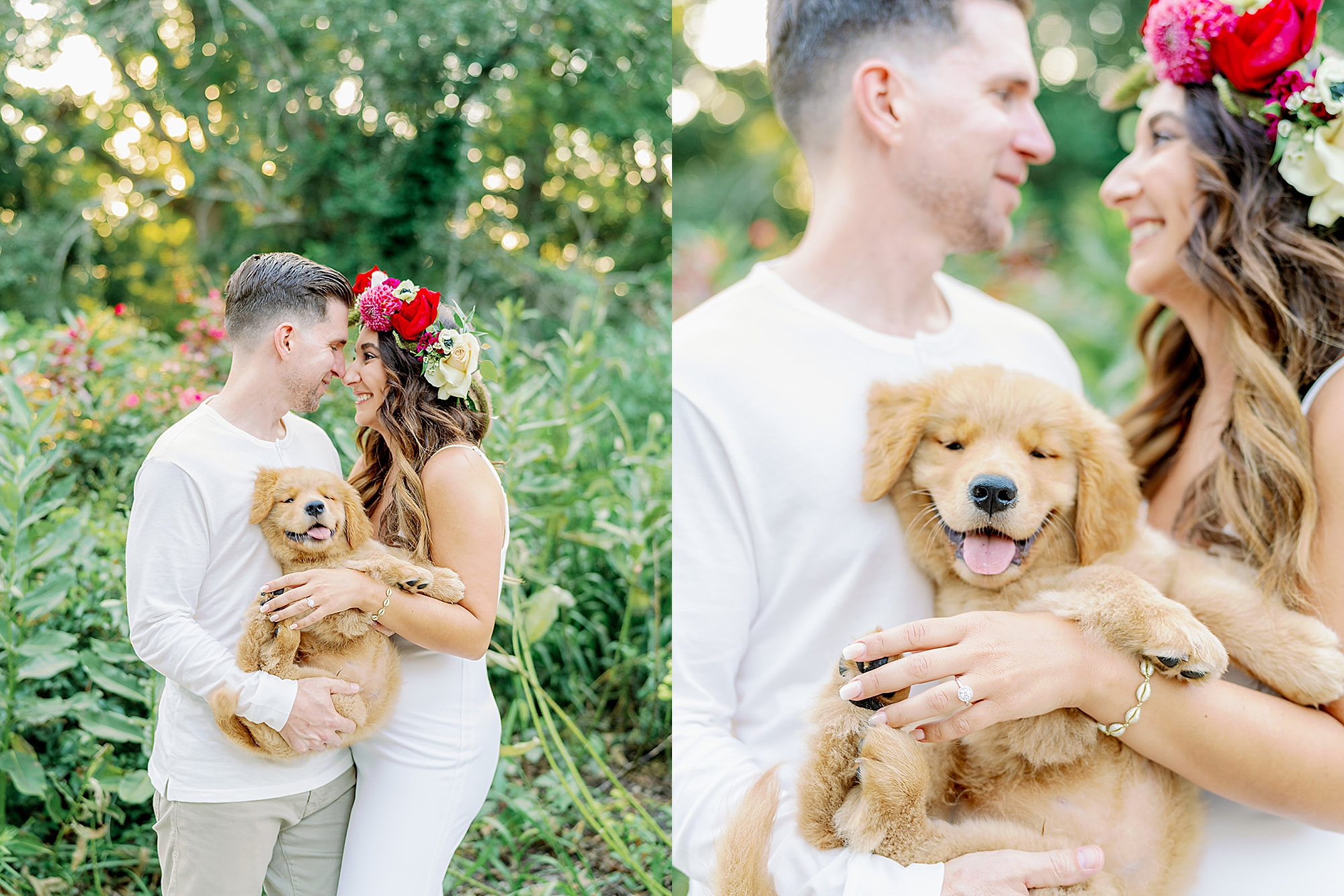 Ocean City New Jersey Engagement Photography with puppy by Magdalena Studios 0003