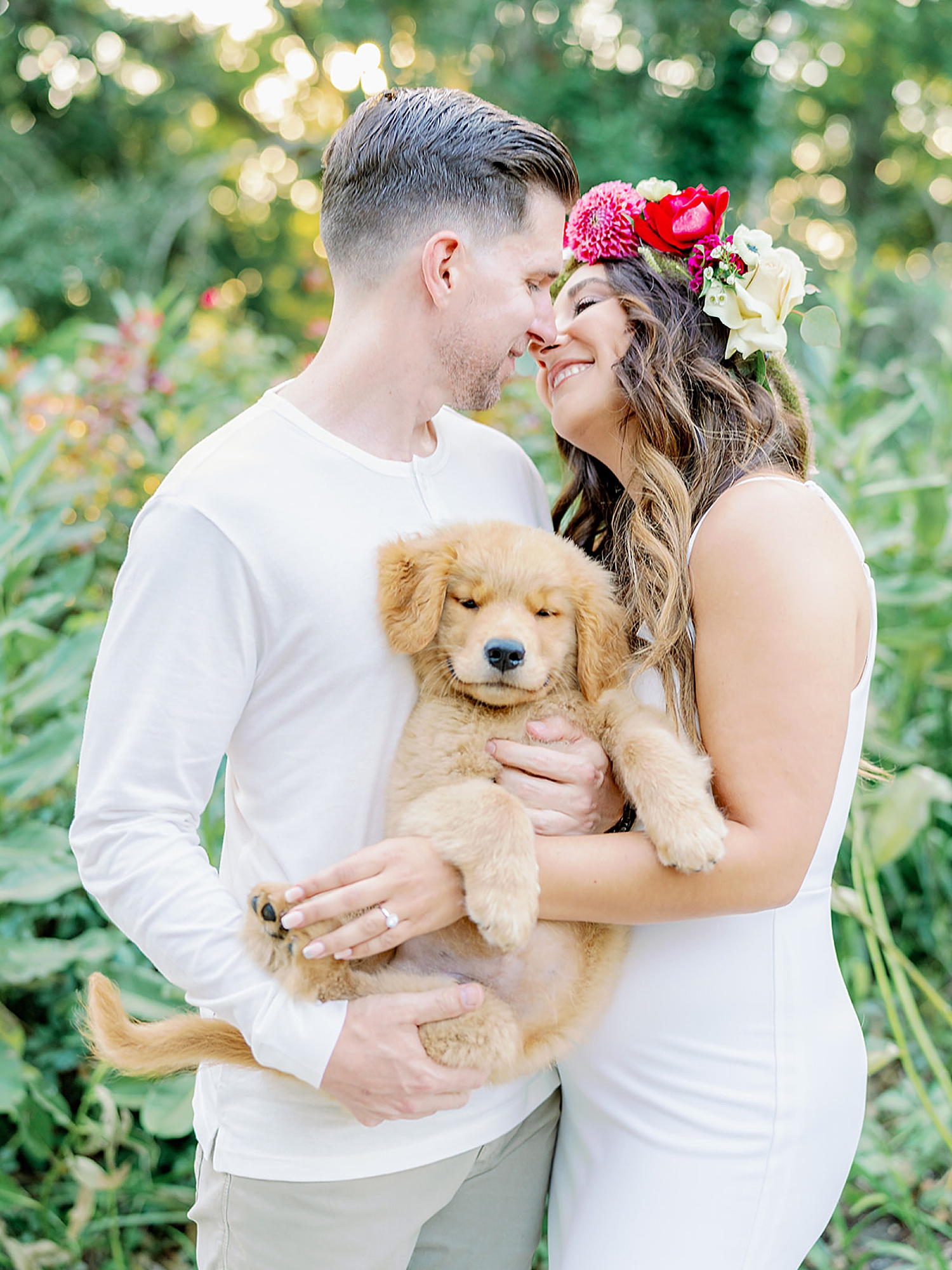 Ocean City New Jersey Engagement Photography with puppy by Magdalena Studios 0006