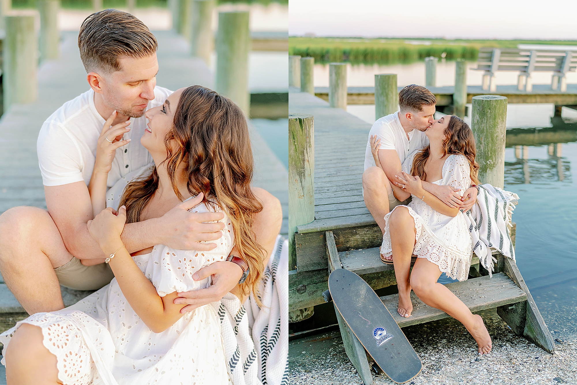 Ocean City New Jersey Engagement Photography with puppy by Magdalena Studios 0023