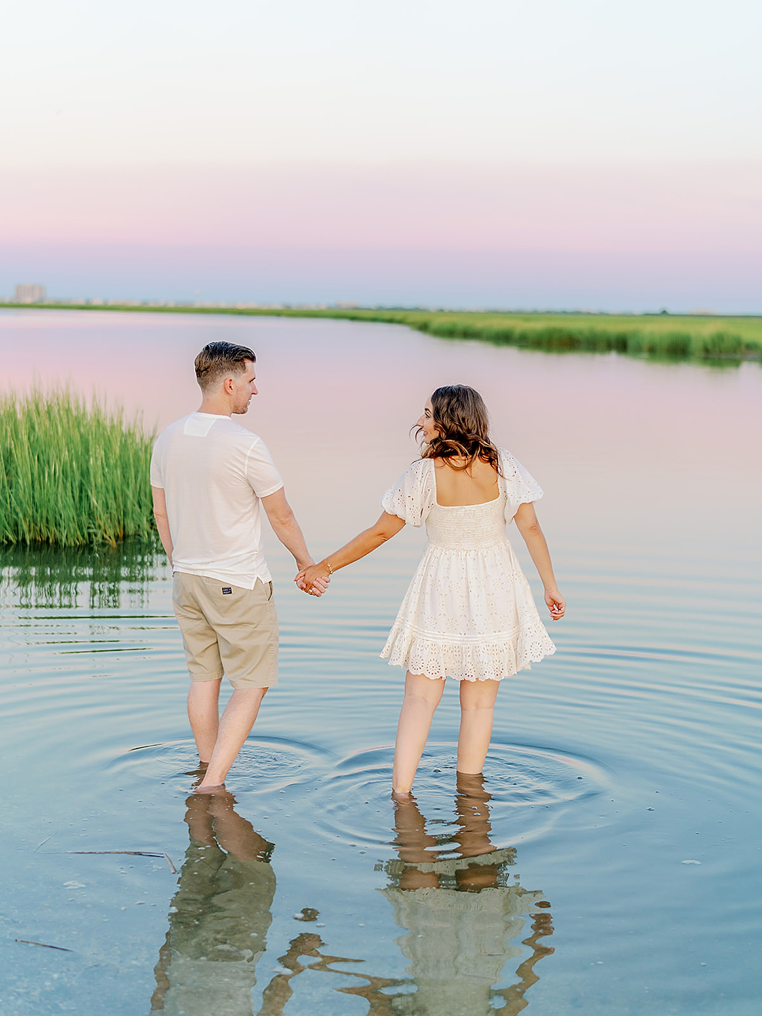 Ocean City New Jersey Engagement Photography with puppy by Magdalena Studios 0024