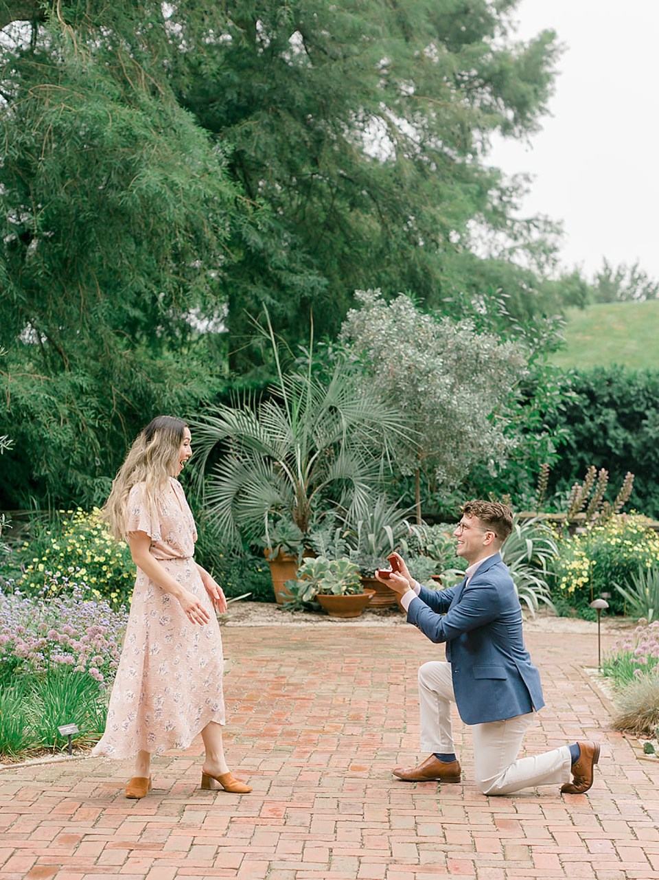 Longwood Gardens Surprise Proposal Engagement Photography by Magdalena Studios 0002