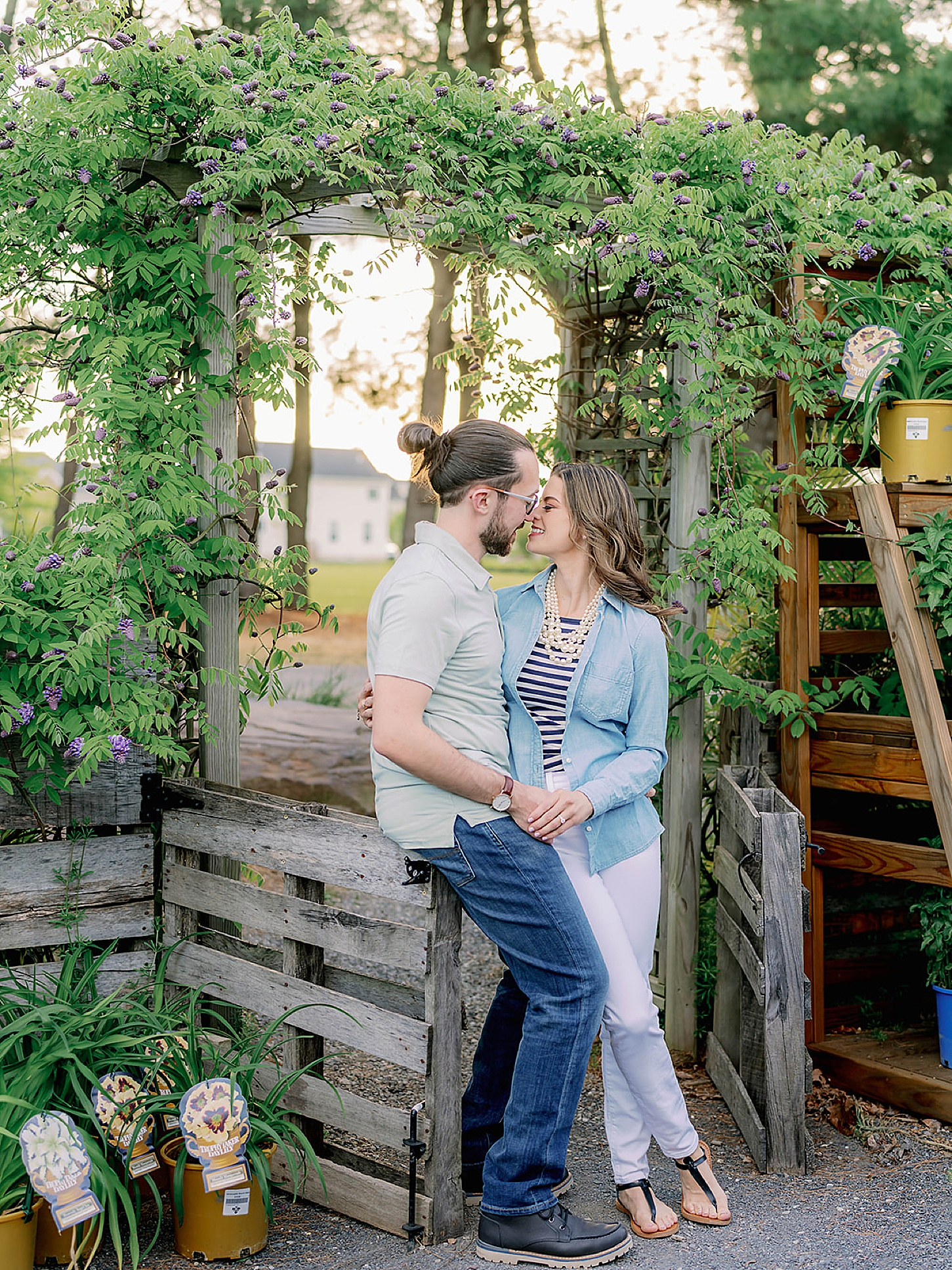 Bast Brothers Garden Center Mullica Hill NJ Engagement Photography by Magdalena Studios 0018