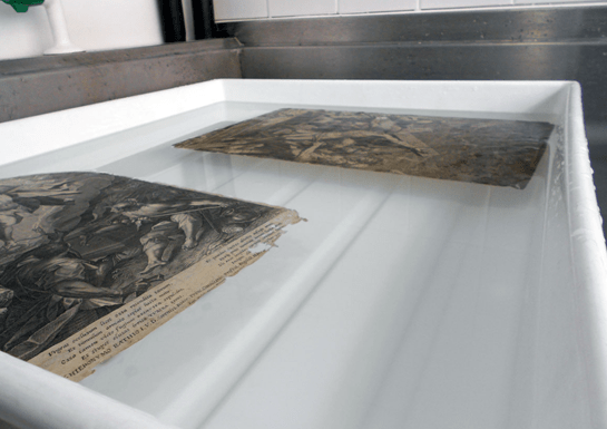 Washing the prints