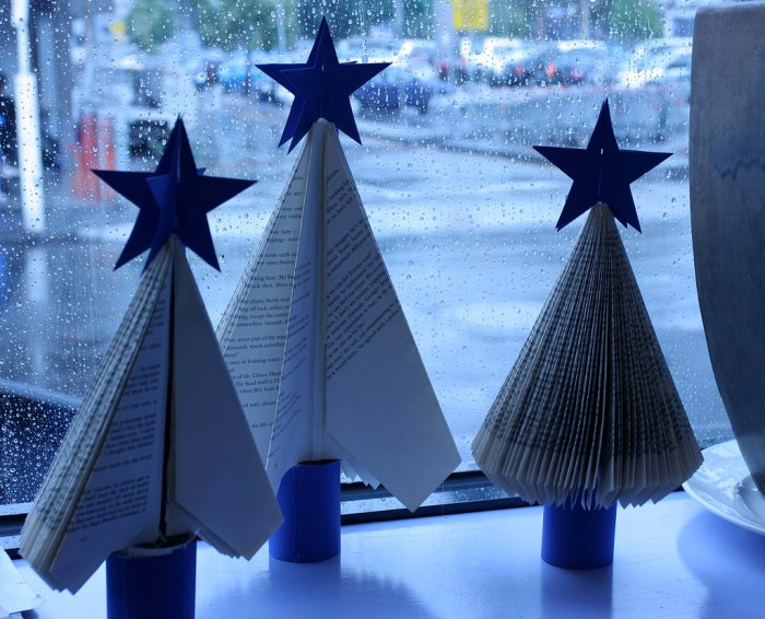 'Bookish Christmas Trees' by Macinate on Flickr