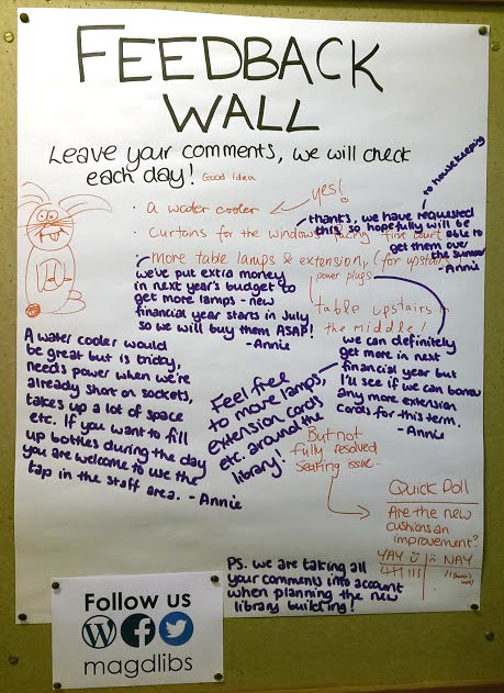 Feedback wall 13th May 2015
