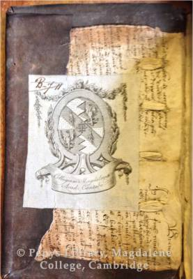 Old Library H.18.39 manuscript pastedown