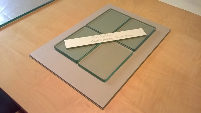 Fig 4 - Object during pressing