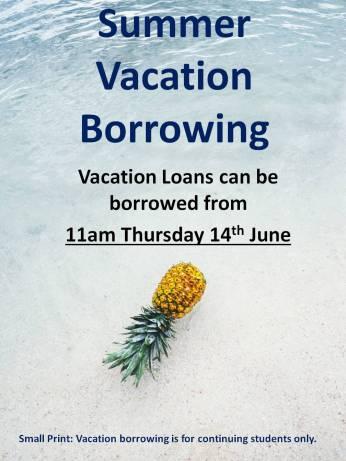 Summer Vacation Borrowing 2018