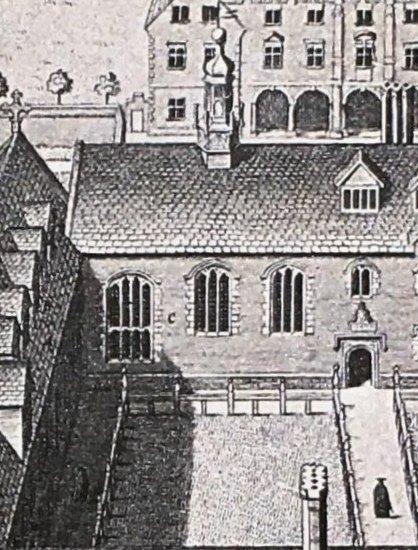 LogganPrintofMagdaleneCollege - Hall Detail