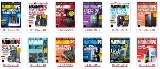 Maximum PC - 2018 Full Year Issues Collection