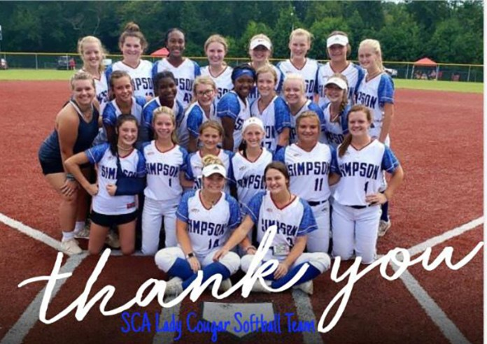 Simpson Academy Lady Cougars Softball