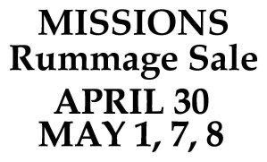 Mission Rummage Sale